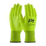 PIP G-Tek GP 33-425LY Yellow Large Nylon Work Gloves - EN 388 1 Cut Resistance - Urethane Fingers Coating - 9.3 in Length - 33-425LY/L