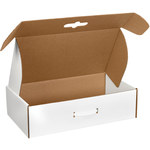 Oyster White Corrugated Carrying Cases - 18 1/4 in x 11 3/8 in x 2 11/16 in - SHP-2743
