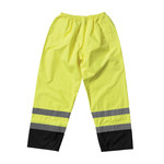 PIP 318-1757YEL Black/High-Visibility Lime Large Polyester High-Visibility Pants - 2 Pockets - 45.7 in Outseam Length - 616314-05631