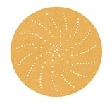 3M 216U Coated Aluminum Oxide Yellow Hook & Loop Disc - Paper Backing - A Weight - P220 Grit - Very Fine - 3 in Diameter - 20830