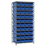 Akro-Mils Fixed Blue Gray Steel 22 ga Open Fixed Shelving - 42 - AS2479084