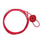 Brady Red Steel Cable Lockout Device 50932 - 8 ft Length - 754476-50932