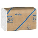 Scott White 250 Paper Towel - 1 Ply - Folded - Multi-Fold - 9.4 in Overall Length - 9.2 in Width - 01804