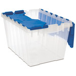 Akro-Mils Keepbox 12 gal 25 lb Blue / Clear Polypropylene Attached Lid Container - 21 1/2 in Length - 15 in Width - 12 1/2 in Height - 66486CLDBL