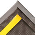 Notrax Cushion Trax 479 Black Closed-Cell Foam Diamond-Plate Anti-Fatigue Mat - 2 ft Width - 3 ft Length - 479 2 X 3 BLK