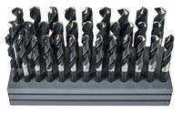 Precision Twist Drill C33R56 Reduced Shank Drill Set - 118° Point - Right Hand Cut - High-Speed Steel - 090231