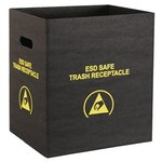 Protektive Pak Black Trash Can - 12 1/2 in Length - 10 in Wide - 37814