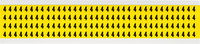 Brady 34 Series 3400-4 Black on Yellow Vinyl Cloth Number Label - Indoor - 1/4 in Width - 3/8 in Height - 1/4 in Character Height - B-498