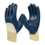 Armor Guys Duty 06-001 Blue/White Large Work Gloves - Nitrile Both Sides, 3/4 Back Coating - 06-001-L