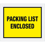 Shipping Supply Tape Logic Yellow Packing List Enclosed Envelopes - 10 in x 12 in - 2 mil Thick - SHP-11608