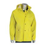 PIP Flex 201-650J Yellow Large Rain Jacket - 2 Pockets - Detachable Hood - 616314-19337