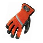Ergodyne Proflex 875 High-Visibility Orange Large PVC/Synthetic Leather/Terry Cloth Work Gloves - 16404
