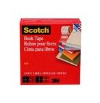 3M Scotch 845 Clear Book Tape - 1 1/2 in Width x 15 yd Length - 07382
