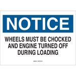 Brady B-555 Aluminum Rectangle White Wheel Chock Sign - 14 in Width x 10 in Height - 43416