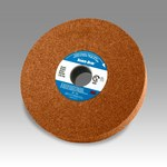 3M Scotch-Brite CP-WL Aluminum Oxide Medium Deburring Wheel - Medium Grade - Arbor Attachment - 6 in Diameter - 1 in Center Hole - 2 in Thickness - 03272