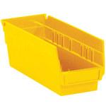 Yellow Shelf Bins - 11.625 in x 4.125 in x 4 in - SHP-3099