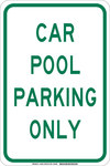 Brady B-555 Aluminum Rectangle White Parking Restriction, Permission & Information Sign - 12 in Width x 18 in Height - 129567