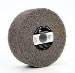 3M Scotch-Brite MU-WL Convolute Silicon Carbide Soft Deburring Wheel - Medium Grade - Arbor Attachment - 4 in Diameter - 1 in Center Hole - 1 in Thickness - 13161