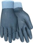 Red Steer A321 Black Large Nylon Work Gloves - PVC Full Coverage Coating - A321-L