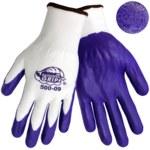 Global Glove Tsunami Grip 500 White 9 Nylon Work Gloves - Nitrile Coating - 500/9