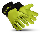 HexArmor Chrome Series Chrome Series Black/Lime 9 Goatskin Leather/SuperFabric Cut and Sewn Welding & Heat-Resistant Gloves - ANSI A8 Cut Resistance - 4085-L (9)