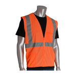 PIP 302-0702Z-OR Orange XL Polyester Mesh High-Visibility Vest - 2 Pockets - Fits 52 in Chest - 28 in Length - 616314-23993