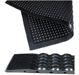 Notrax Comfort-Eze 447 Black Rubber Raised Domes Anti-Fatigue Mat - 30 in Width - 10 ft Length - 447 30 X 10
