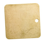 Brady 23212 Brass Square Brass Blank Valve Tag - 1 1/2 in Dia. Width - 1 1/2 in Height - B-907