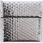 Shipping Supply Silver Glamour Bubble Mailers - 6.75 in x 7 in - SHP-3573
