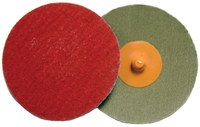 Weiler Saber Tooth Coated Ceramic Quick Change Disc - Cloth Backing - 80 Grit - Medium - 3 in Diameter - 60177