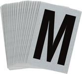 Brady Bradylite 5900-M Black on Silver Letter Label - Outdoor - 1 in Width - 1 1/2 in Height - 1 in Character Height - B-997