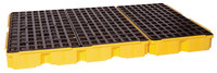 Eagle Yellow High Density Polyethylene 8000 lb 88 gal Spill Deck - Supports 6 Drums - 51 1/2 in Width - 51 1/2 in Length - 6 1/2 in Height - 048441-60160