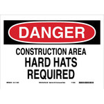 Brady B-558 Recycled Film Rectangle White Construction Site Sign - 14 in Width x 10 in Height - 118222