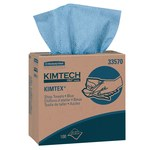 Kimberly-Clark Kimtech Blue Polypropylene Wiper - Box - 100 sheets per box - 16.8 in Overall Length - 8.8 in Width - 33570