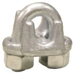 Lift-All Galvanized Steel Drop Forged Wire Rope Clip - 3/8 in Width - 74973