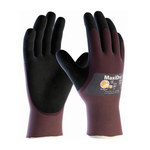 PIP MaxiDry Purple/Black XS Lycra/Nylon Work Gloves - Nitrile Foam Palm & Fingertips Coating - 9.8 in Length - Rough Finish - 56-425/XS