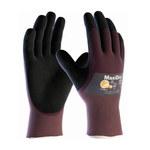 PIP MaxiDry 56-425 Black/Purple Large Lycra/Nylon Work Gloves - EN 388 1 Cut Resistance - Nitrile Palm & Fingers Coating - 9.8 in Length - 56-425/L