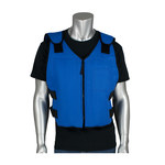 PIP EZ-Cool 390-EZSPC Blue L/XL Polyester Cooling Vest - Place Cooling Packets in Freezer or Refrigerator - 616314-70720