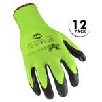 Valeo V810 Large Nylon Work Gloves - Nitrile Palm & Fingers Coating - VI9584LG