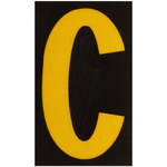 Brady Bradylite 5890-C Yellow on Black Letter Label - Outdoor - 1 3/8 in Width - 1 7/8 in Height - 1 1/2 in Character Height - B-997