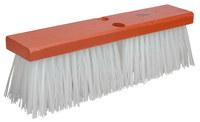 Weiler 702 Push Broom Head - White Polypropylene 4 in Bristle - 16 in Hardwood Block - 70211