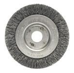 Weiler Steel Wheel Brush 0.0118 in Bristle Diameter - Arbor Attachment - 3 in Outside Diameter - 1/2 to 3/8 in Center Hole Size - 00234
