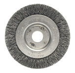 Weiler Stainless Steel Wheel Brush 0.0118 in Bristle Diameter - Arbor Attachment - 3 in Outside Diameter - 1/2 to 3/8 in Center Hole Size - 00264