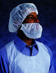Ansell 67-221 White Universal Polyethylene Bouffant Cap - 21 in Stretched Diameter - 076490-51906