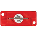 Red 25G Drop-N-Tell Indicators - 7/8 in x 2 in x 1/4 in - SHP-8348