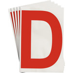 Brady Toughstripe 121711 Red Polyester Letter Label - Indoor - 6 in Width - 8 in Height - 8 in Character Height - B-514