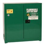 Eagle 30 gal Green Steel Hazardous Material Storage Cabinet - 43 in Width - 44 in Height - Floor Standing - 048441-33484