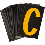 Brady Bradylite 5905-C Yellow on Black Letter Label - Outdoor - 1 in Width - 1 1/2 in Height - 1 in Character Height - B-997
