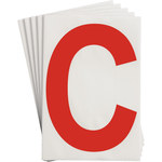 Brady Toughstripe 121705 Red Polyester Letter Label - Indoor - 6 in Width - 8 in Height - 8 in Character Height - B-514