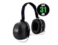 3M Peltor X Series X5B Black Behind Neck Polyurethane Protective Earmuffs - 31 Decibel NRR